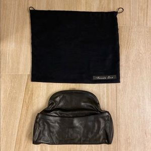 Kenneth Cole lambskin leather clutch